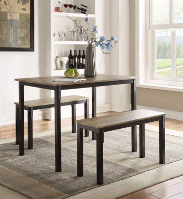 4D Concepts Tool Less Boltzero Dining Table With 2 Benches