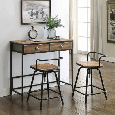 4D Concepts Urban Loft Breakfast Table With Two Swivel Stools