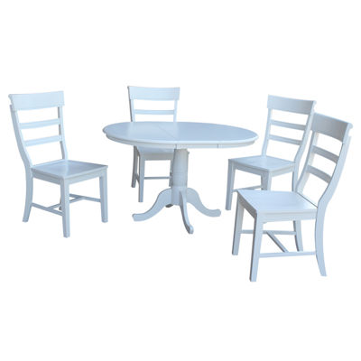 Round Extension Dining Table with 4 Hammerty Chairs