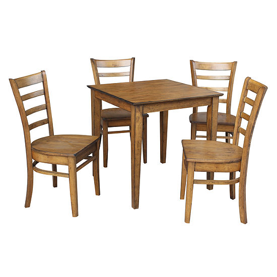 Dining Table With 4 Emily Ladder back Chairs