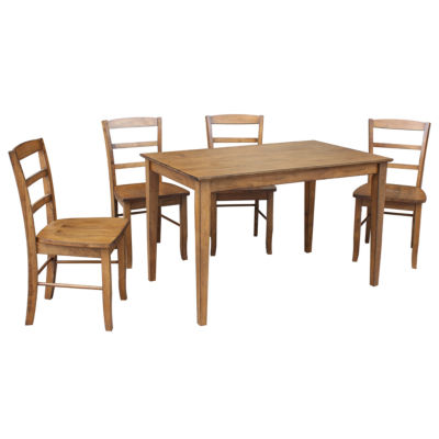 Dining Table with 4 Madrid Ladderback Chairs