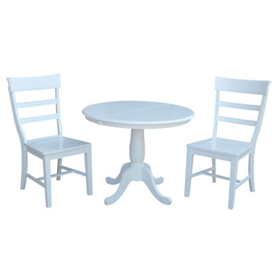 Round Extension Dining Table with 2 Hammerty Chairs