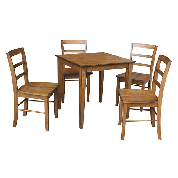 Dining Table With 4 Madrid Ladder back Chairs