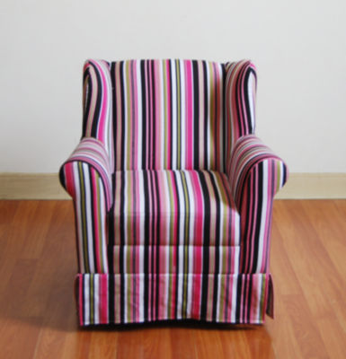 4D Concepts Girls Wingback Chair -Striped