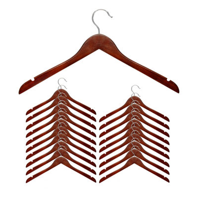 Honey-Can-Do® Basic Cherry Wood Shirt Hangers Pack of 20