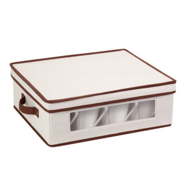 Honey-Can-Do® Natural Canvas Large Window Storage Box
