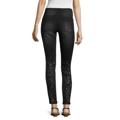 Project Indigo Metallic Splatter Skinny Jean