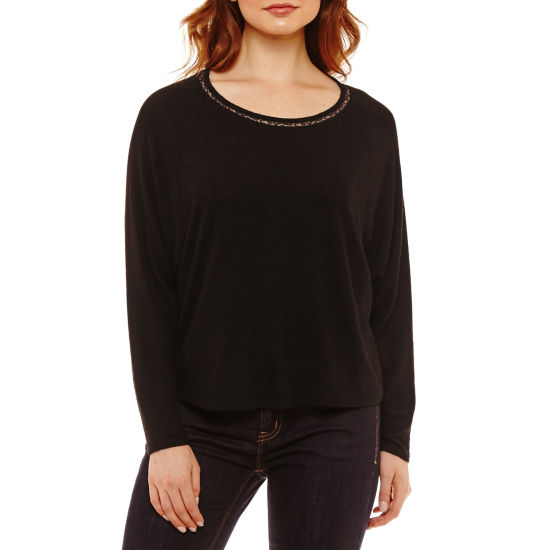 Bold Elements Long Sleeve Cozy Lace Back Knit Top