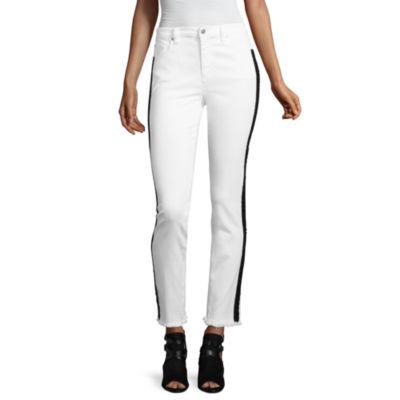 Libby Edelman Tuxedo Stripe Skinny Jeans