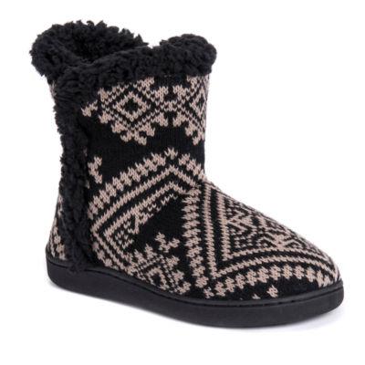 Muk Luks Womens Cheyenne Bootie Slippers