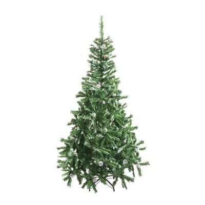 ALEKO Luscious Christmas Holiday Tree with Snow Covered Pine Cones
