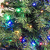 ALEKO Artificial Christmas Holiday Pine Tree With Multicolor Lights