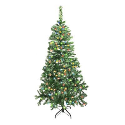 ALEKO Christmas Artificial Holiday Tree with Multicolored Lights