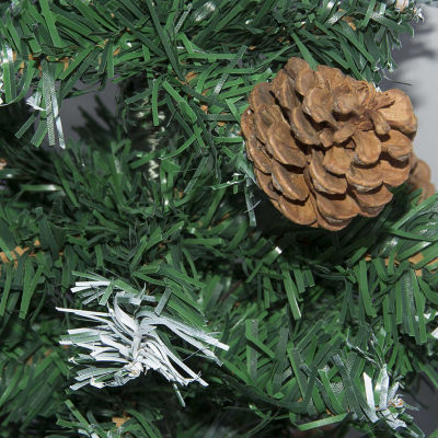 ALEKO Artificial Christmas Holiday Pine Tree with Pine Cones