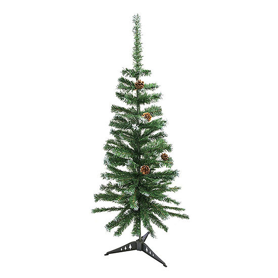 aleko artificial christmas holiday pine tree with pine cones - Christmas Tree With Pine Cones