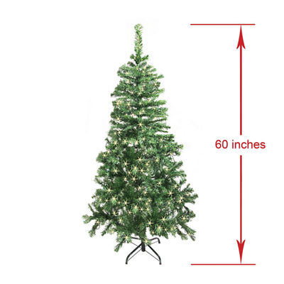 ALEKO Artificial Indoor Christmas Holiday Pine Tree With White Lights