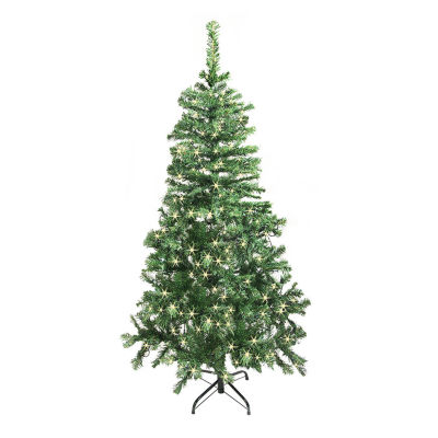 ALEKO Artificial Indoor Christmas Holiday Tree with LED Lights
