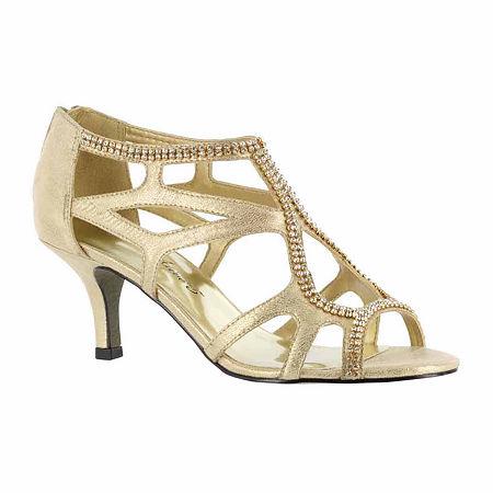 Easy Street Womens Flattery Pumps Spike Heel, 7 1/2 Extra Wide, Yellow