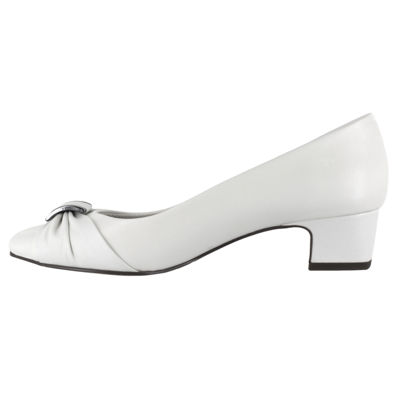 Easy Street Womens Eloise Pumps Slip-on Round Toe Block Heel Wide Width