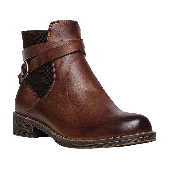 Propet Womens Tatum Dress Boots Stacked Heel Zip