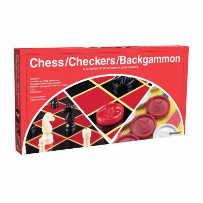 Pressman Chess Checkers Backgammon