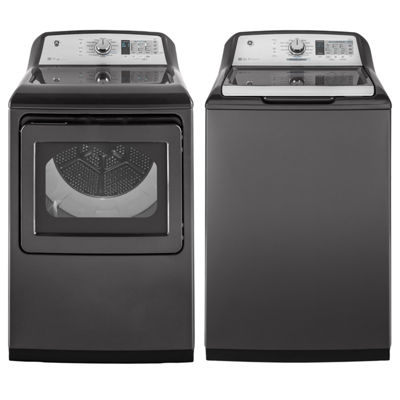 GE® Top Load 2-pc. Electric Washer & Dryer Package- Diamond Gray