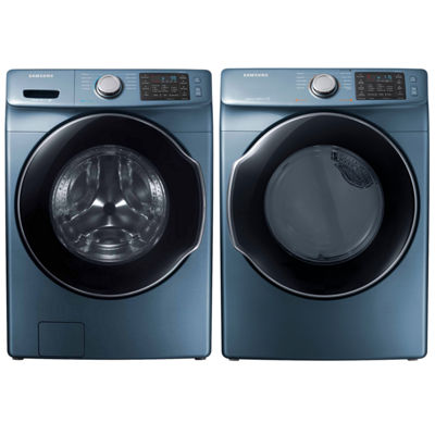 Samsung Front Load 2-pc. Electric Washer & Dryer Set- Azure Blue