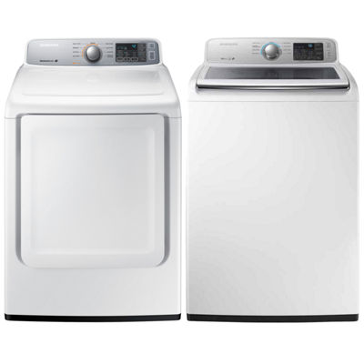 Samsung Top Load 2-pc. Electric Washer & Dryer Set- White