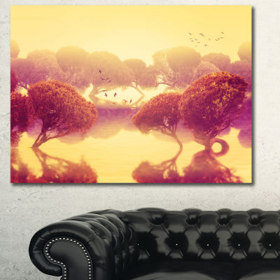 Designart Peaceful Japanese Gardens Landscape Canvas Art Print