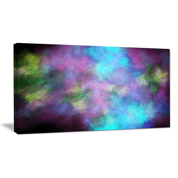 Designart Perfect Blue Purple Starry Sky AbstractCanvas Art Print