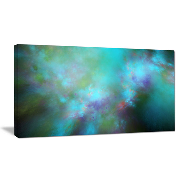 Designart Perfect Blue Starry Sky Abstract CanvasWall Art