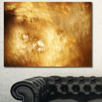 Designart Perfect Brown Starry Sky Abstract CanvasArt Print