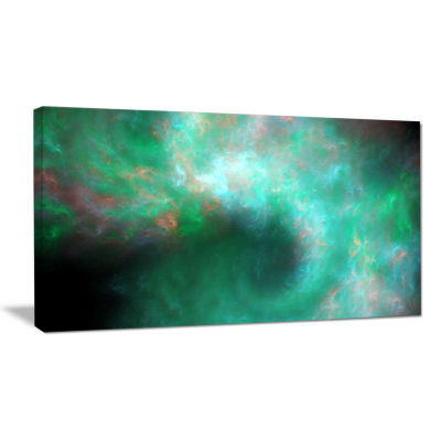 Designart Perfect Clear Blue Starry Sky Abstract Canvas Art Print