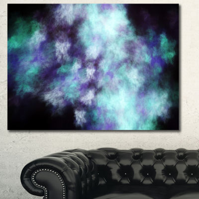 Designart Perfect Flowery Starry Sky Abstract Canvas Art Print