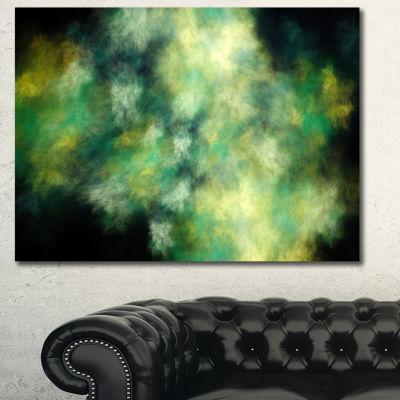 Designart Perfect Green Starry Sky Abstract CanvasWall Art