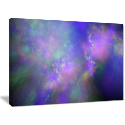 Designart Perfect Purple Starry Sky Abstract Canvas Wall Art