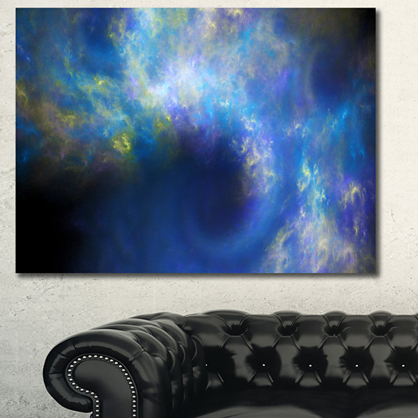Designart Perfect Whirlwind Starry Sky Abstract Canvas Art Print
