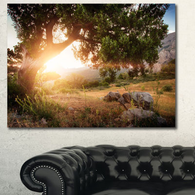 Designart Picturesque Foros Mountains Abstract ArtOn Canvas