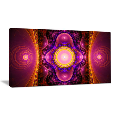 Designart Pink Cryptical Fractal Design Abstract Wall Art Canvas