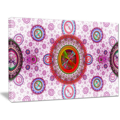 Designart Pink Psychedelic Relaxing Art Abstract Canvas Art Print