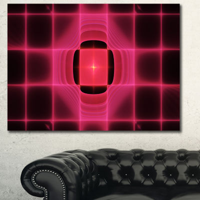 Designart Pink Thermal Infrared Visor Abstract Canvas Art Print