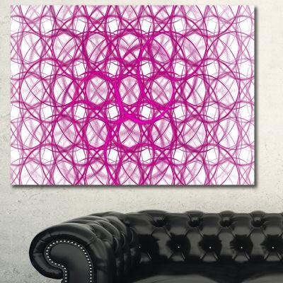 Designart Pink Unusual Metal Grill Abstract CanvasWall Art