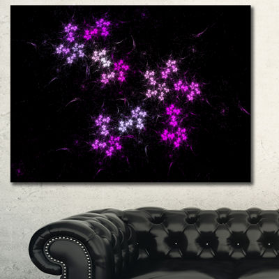 Designart Placer Stars In Distant Galaxy AbstractWall Art Canvas