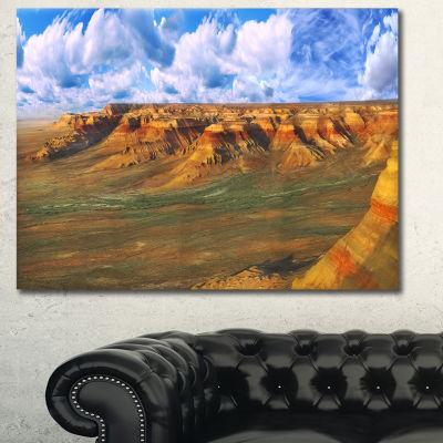 Designart Plateau Ustyurt Panorama Landscape Canvas Art Print