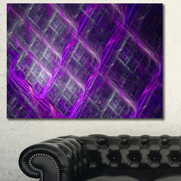 Designart Purple Abstract Metal Grill Abstract ArtOn Canvas
