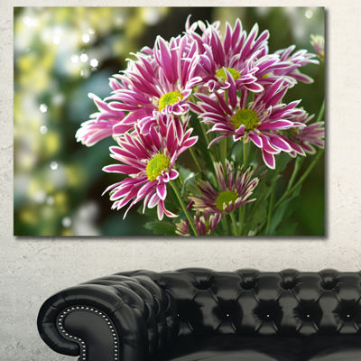 Designart Purple Chrysanthemum Flower Floral Canvas Art Print