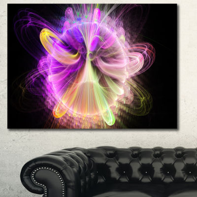 Designart Purple Circle With Amazing Curves FloralCanvas Art Print