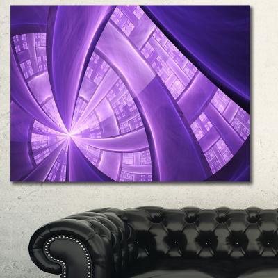 Designart Purple Fractal Exotic Plant Stems Abstract Canvas Art Print