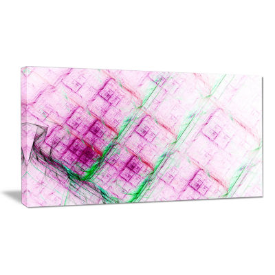 Designart Purple Fractal Grill Pattern Abstract Art On Canvas