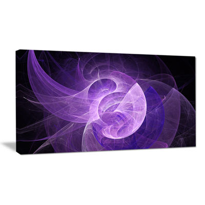 Designart Purple Mystic Psychedelic Design Abstract Art On Canvas